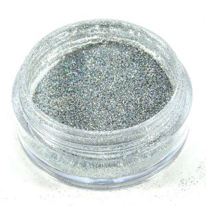 Glitter-Puder 2 g Farbe: silber/rainbow