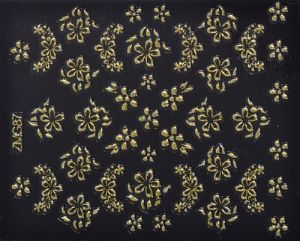 Nail Sticker - Blumen gold