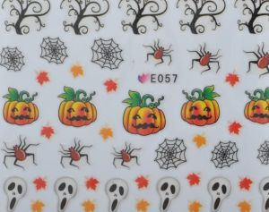 Halloween Sticker Selection 21 (Kürbisse; Spinnenweben; Baum)