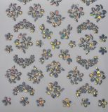 Nail Sticker - Holographic Flowers