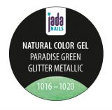 Natural Color Gel paradise green glitter metallic 5g
